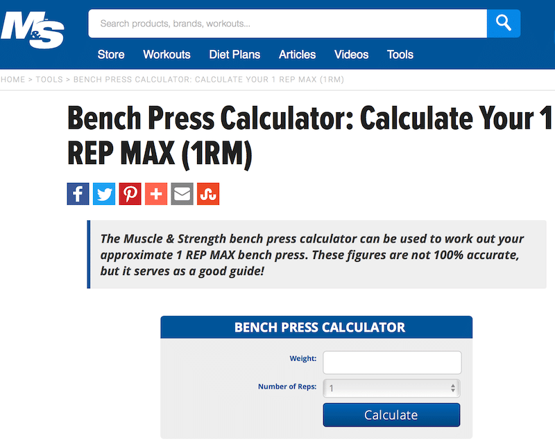 one rep bench max calculator 28 images one rep max
