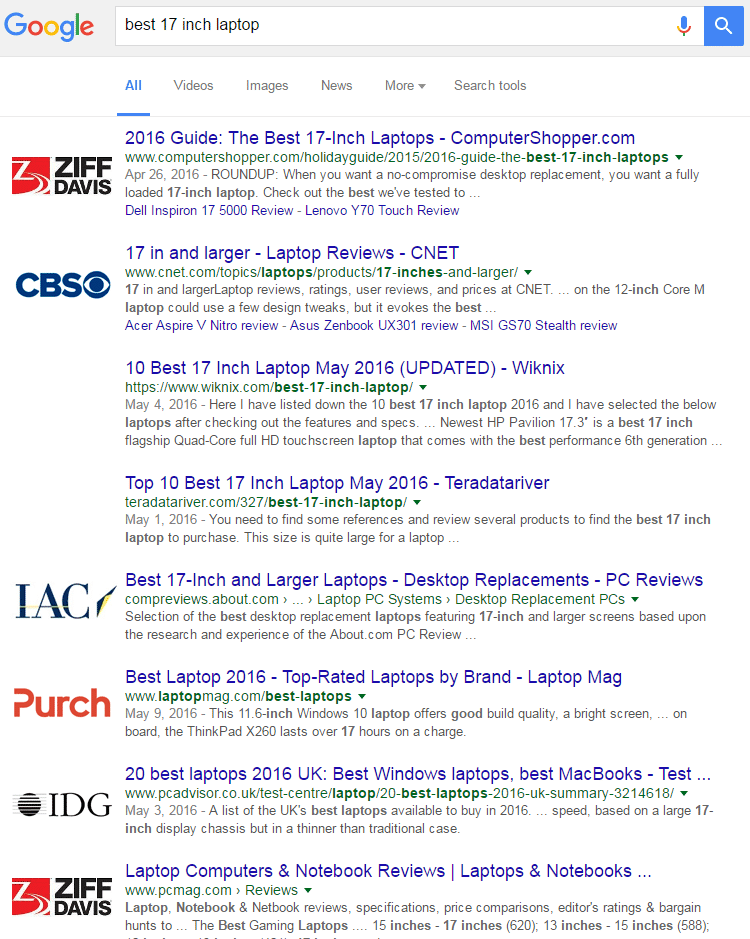 How 16 Companies are Dominating the World's Google Search